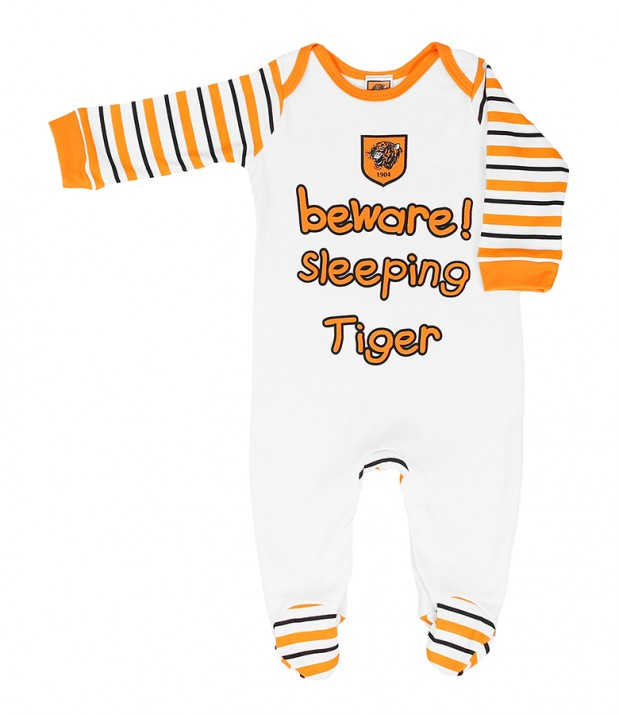 White/Stripe Sleepsuit