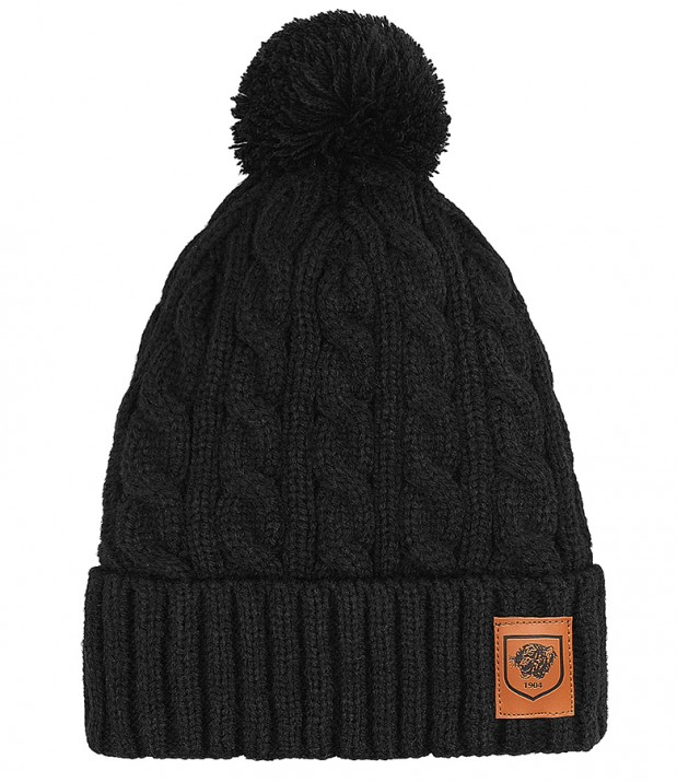New Cable Knit Bobble Hat