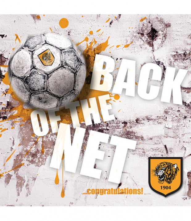 Back Of The Net Congratulations Card