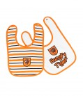 Bibs 2 Pack Stripe/White