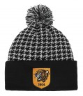 Hounds Tooth Bobble hat