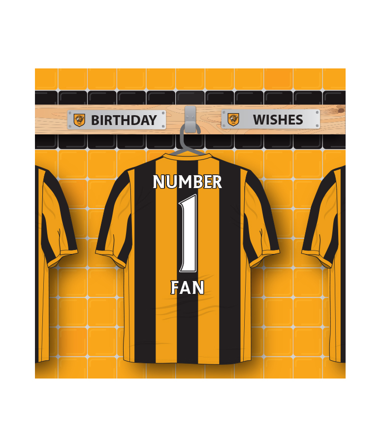 No 1 Fan Shirt Card