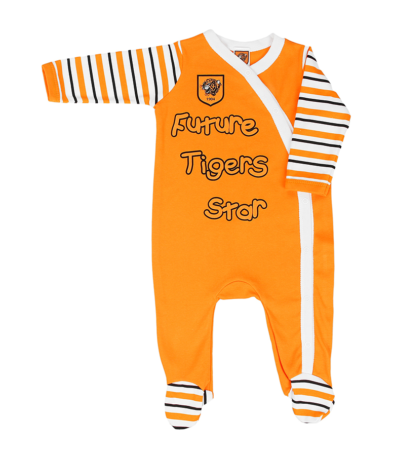 Amber/Stripe Sleepsuit
