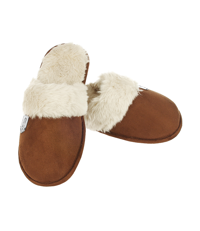 Ladies Cuff Mule Slipper