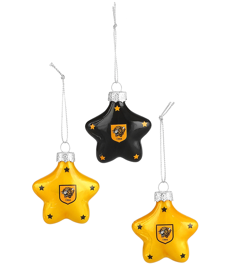 Star Baubles - 3 Pack