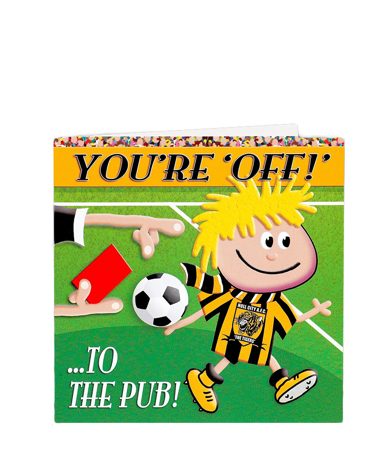 You're Off - To The Pub Card