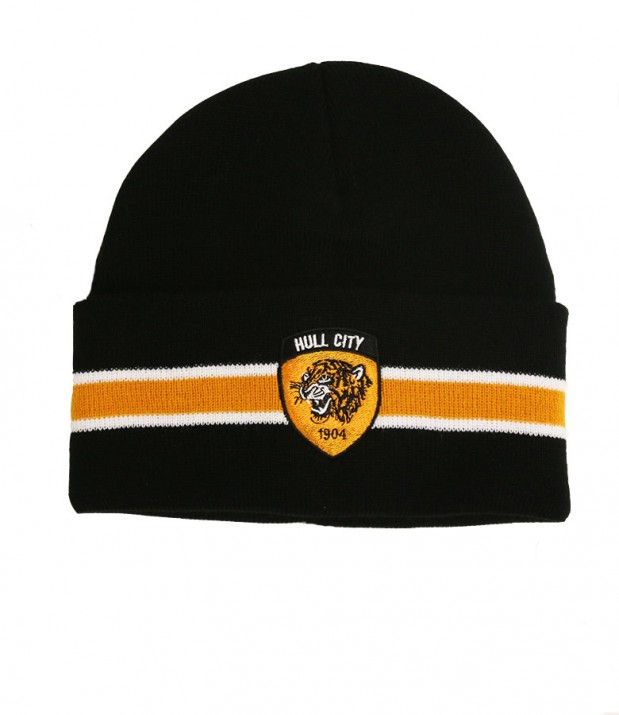 Bronx Hat Black Amber/White Stripe